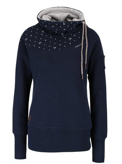 Bluză bleumarin Ragwear Venus cu guler înalt