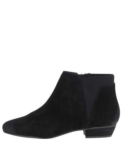 Čierne dámske semišové členkové topánky ALDO Siman