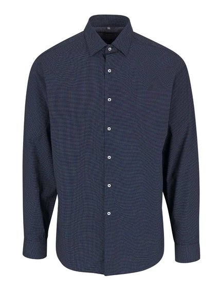 Tmavě modrá pánská košile s jemným vzorem Seven Seas