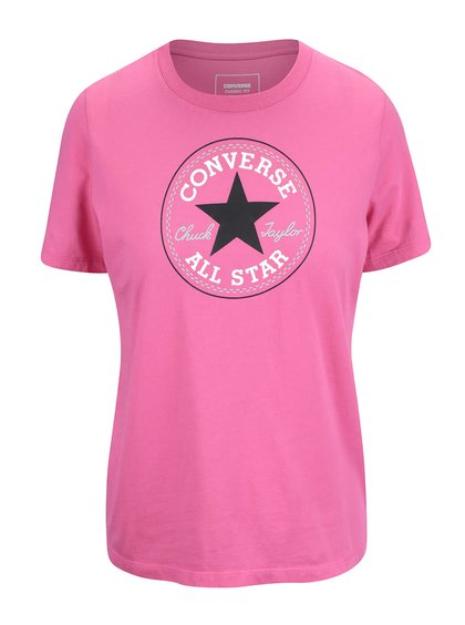 Ružové dámske tričko s logom Converse