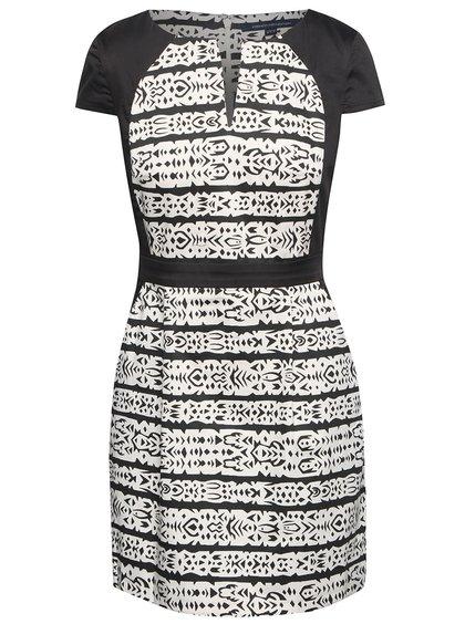 Krémovo-černé vzorované šaty French Connection Mayan