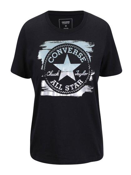 Černé dámské tričko s logem Converse