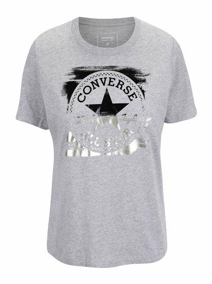 Šedé dámské tričko s logem Converse
