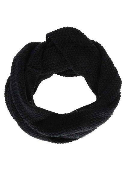 Čierny dutý šál Selected Homme Tube