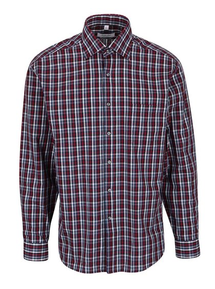 Modro-vínová kostkovaná pánská košile Seven Seas