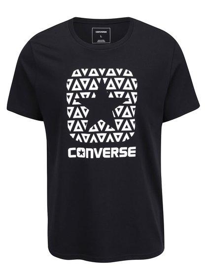 Čierne pánske tričko s potlačou Converse Delta boxstar