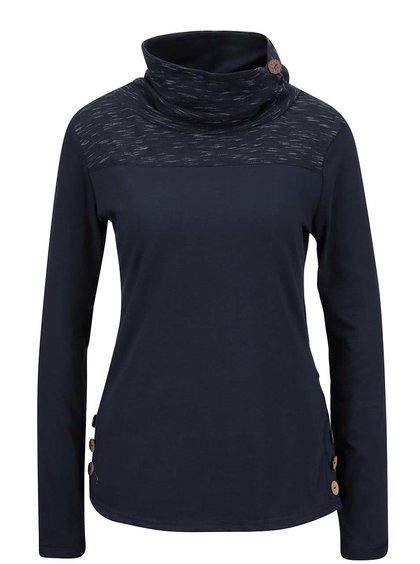 Tmavě modré dámské tričko s límcem a dlouhým rukávem Ragwear Willow