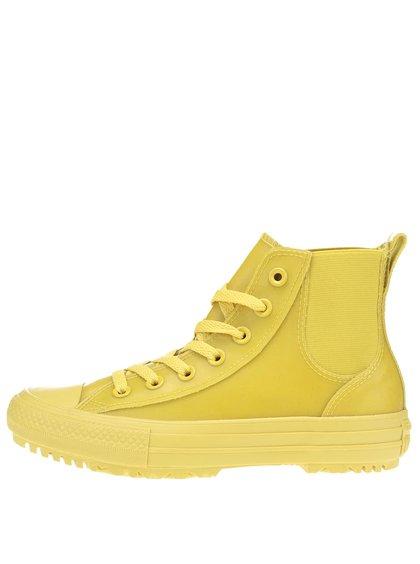 Žlté dámske členkové tenisky Converse Chuck Taylor All Star Chelsea Boot