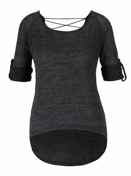 Tmavě šedý top s 3/4 rukávy Haily´s Annie