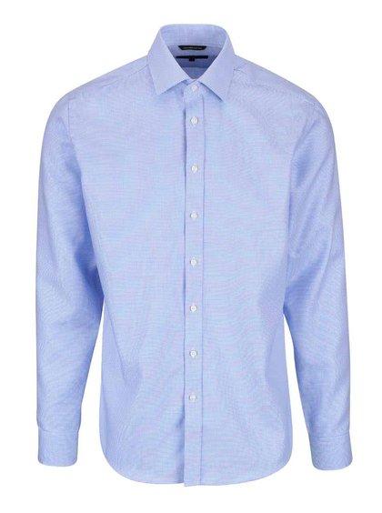 Světle modrá formální slim-fit košile s jemným vzorem Seven Seas