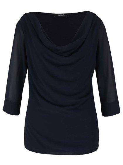 Bluză bleumarin Haily's Erena cu drapaje
