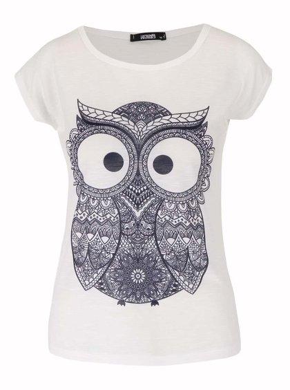 Bílé tričko s krátkým rukávem Haily´s Owl