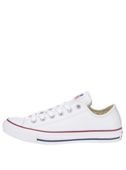 Biele unisex kožené tenisky Converse Chuck Taylor All Star