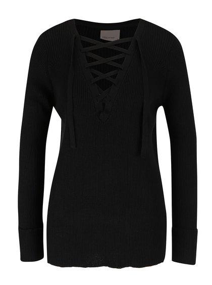 Černý svetr se šněrováním Vero Moda Ludwig