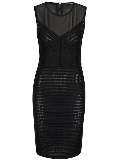 Černá průsvitné šaty French Connection Score