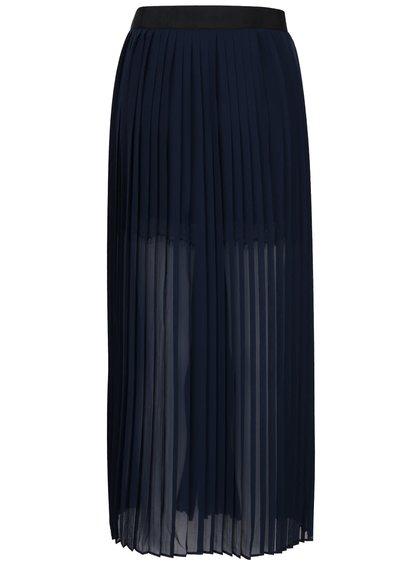 Fustă bleumarin French Connection Cooper plisată