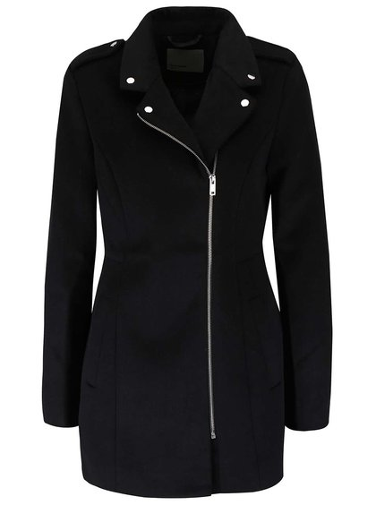 Čierny kabát so zipsom VERO MODA Turner