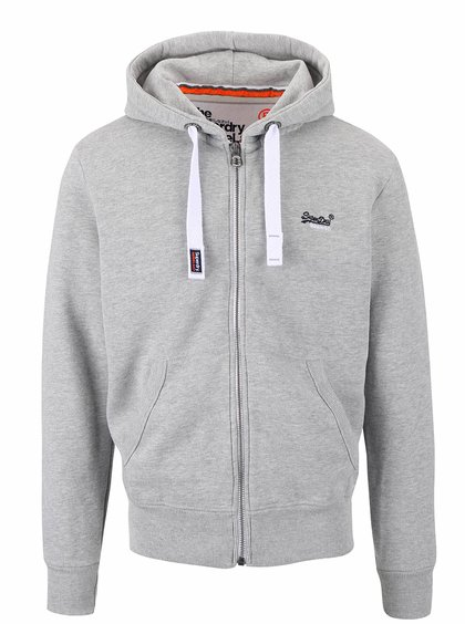 Hanorac gri deschis Superdry