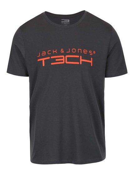 Tmavě šedé triko s potiskem Jack & Jones Foam