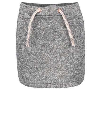Sivá melírovaná dievčenská sukňa s detailmi v zlatej farbe Name it Nitlina
