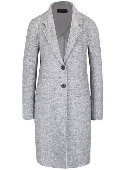 Svetlosivý melírovaný ľahší kabát ONLY Ella