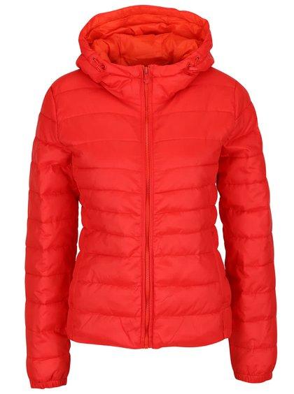 Jachetă roșie ONLY Tahoe matlasată