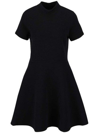 Černé žebrované šaty Superdry