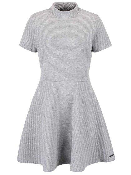Sivé rebrované šaty Superdry