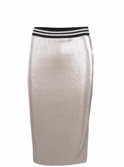 Plisovaná sukně ve zlaté barvě Miss Selfridge