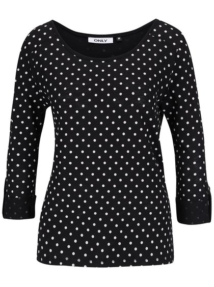 Čierne tričko s bodkami ONLY Jess