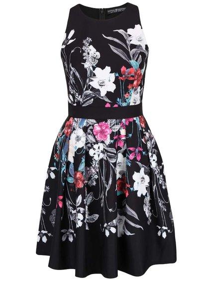 Černé květované šaty Little Mistress