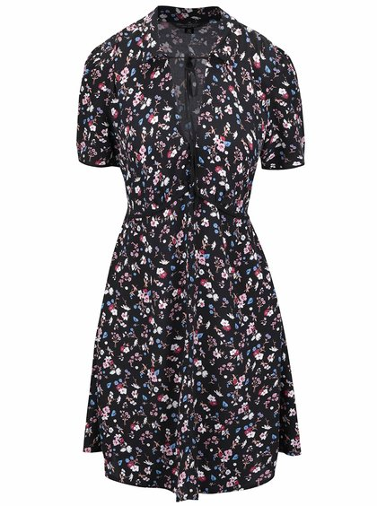 Rochie neagră Miss Selfridge cu motive florale