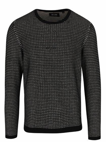Čierny melírovaný ľahký sveter ONLY & SONS Dawson