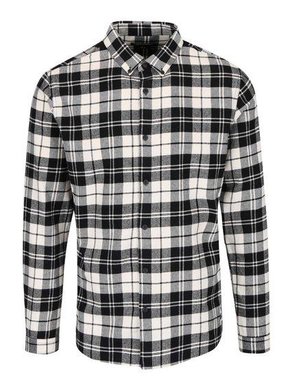 Krémovo-čierna kockovaná košeľa ONLY & SONS Sven