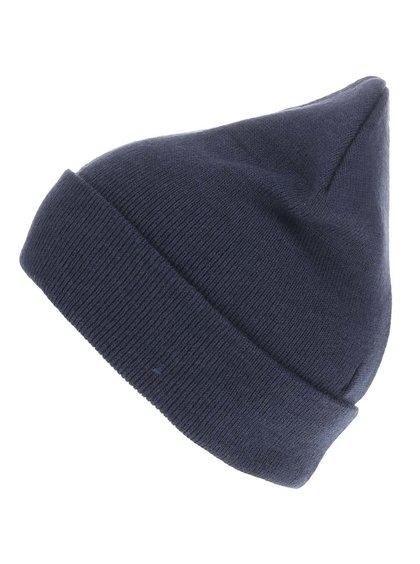 Tmavě modrá zimní čepice s ohrnutým lemem Blend