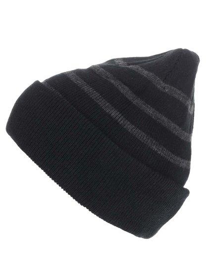 Černá čepice se šedými pruhy Blend