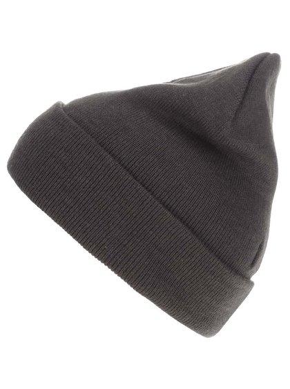 Tmavozelená zimná čiapka s vyhrnutým lemom Blend