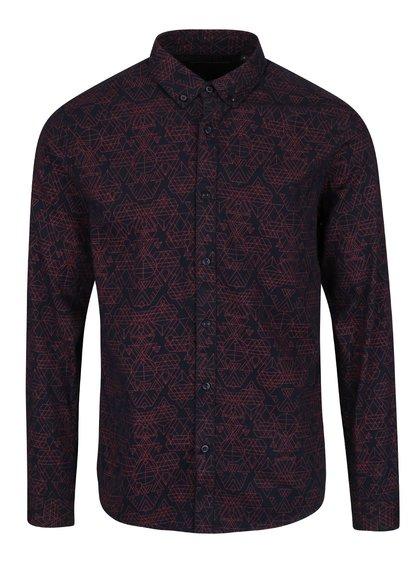 Tmavomodrá vzorovaná košeľa ONLY & SONS Ebbe