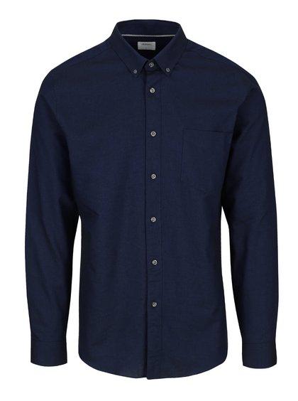 Tmavomodrá košeľa s dlhým rukávom Burton Menswear London