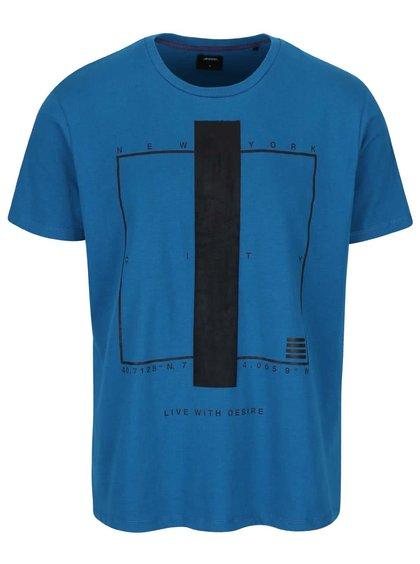 Tricou turcoaz Burton Menswear London cu imprimeu
