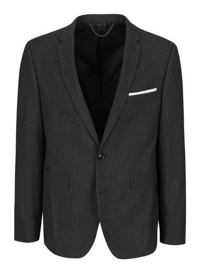 Sacou skinny gri Burton Menswear London cu model discret