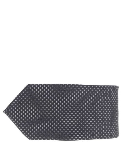 Čierna kravata so vzorom Burton Menswear London