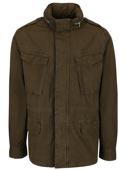 Khaki parka s kapsami Burton Menswear London