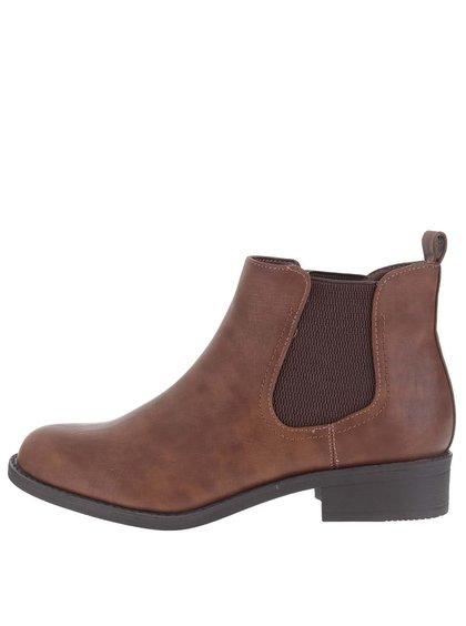 Hnědé kotníkové chelsea boty Dorothy Perkins