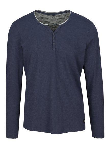 Tmavomodré tričko s dlhým rukávom Blend