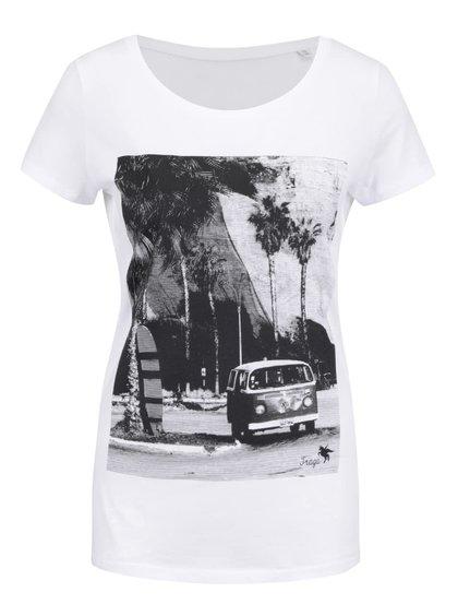 Tricou alb ZOOT Original Travel Traga din bumbac pentru femei