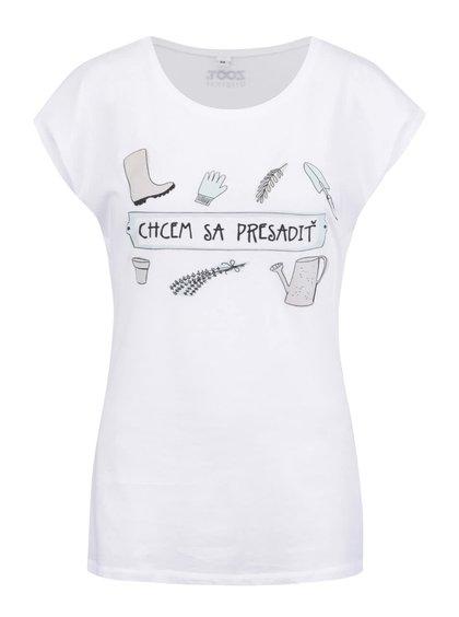 Bílé dámské tričko ZOOT Original Chcem sa presadiť