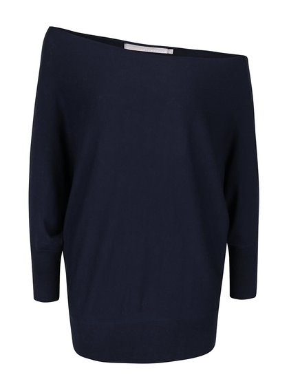 Tmavě modrý lehký svetr s kimonovými rukávy YAYA