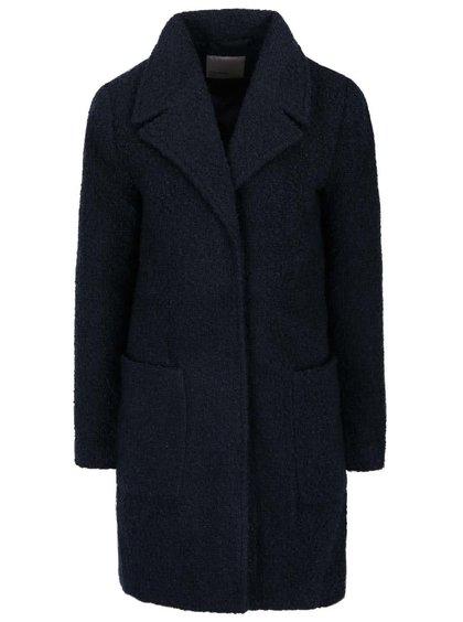 Tmavě modrý kabát s velkými kapsami VERO MODA Trudy