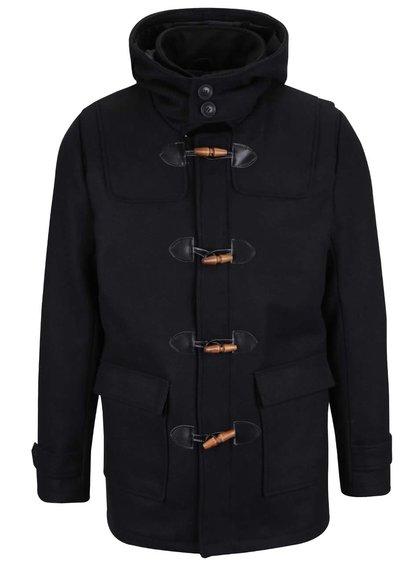 Čierny kabát s kapucňou ONLY & SONS Orville